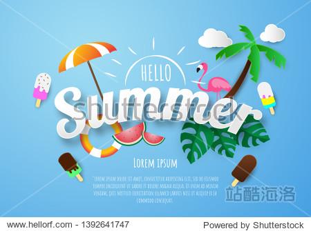 Spring Summer poster  banner  vector illustration and design for poster card