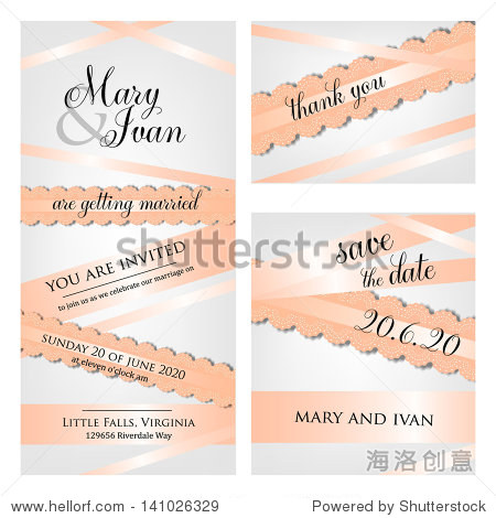 Wedding invitation  thank you card  save the date cards. Wedding set. RSVP card