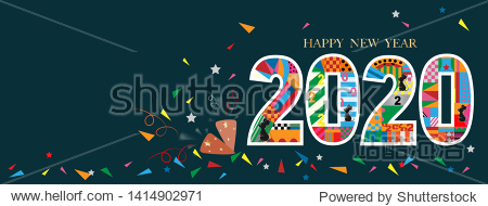 Typography text 2020 font and rat in geometric style on dark green background Creative design for Greeting Lettering.New Year of the rat symbol 2020  flyers  posters  banners and calendar