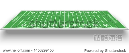 American football field background. Rugby stadium grass field illustration.