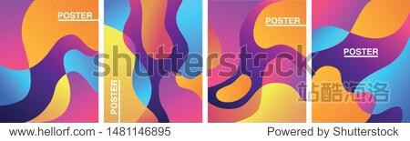 Abstract Gradient Poster Luquid Set Trend