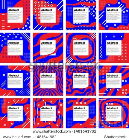 MEGAPACK Abstract set geometric modern art