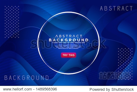 Dynamic blue 3D textured style background design. Modern abstract vector background.