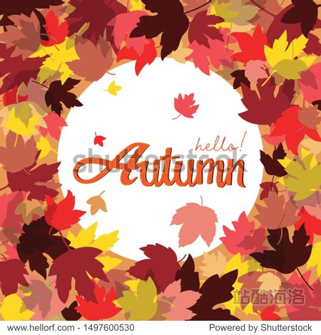 Vector Autumn  background layout decorate with leaves for card poster and frame leaflet or web banner.Vector illustration template.