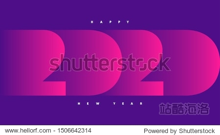 Happy 2020 new year banner for seasonal holidays flyers  greetings and invitations  christmas themed congratulations and cards. Eps10 Vector illustration.