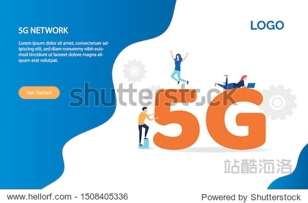 5G network wireless system wifi connection vector illustration concept. Communication network  Business concept. Flat illustration with mobile network. Can use for template  ui  web  homepage  poster.