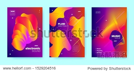 Colorful Fluid Background. Gradient Music Wave. Pink Graphic Dj Flyer. Red Sound Dj Flyer. Electronic Party. Fluid Abstract. Gradient Music Poster. Orange Vector Banner. Blue Sound Brochure.