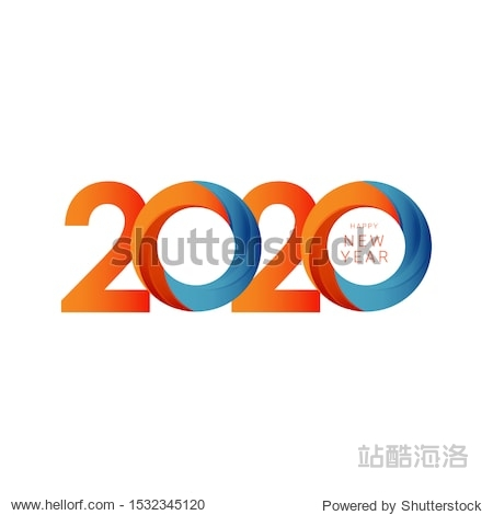 Happy new year 2020 design template. Design for calendar  greeting cards or print.