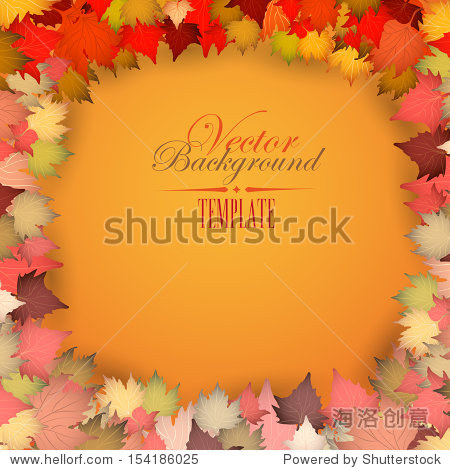 Colorful autumn leaves Background - eps 10