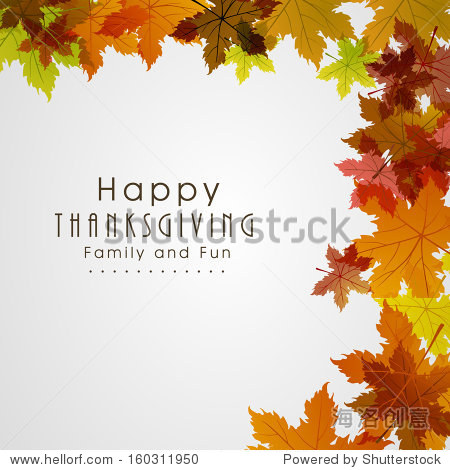 Happy Thanksgiving Day background with beautiful autumn maple leaves  can be use as flyer  banner or poster.