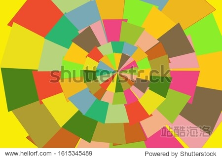 Background pattern  a wheel of triangles of different colors