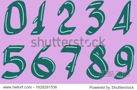 The numbers are green on a purple background. Score to ten