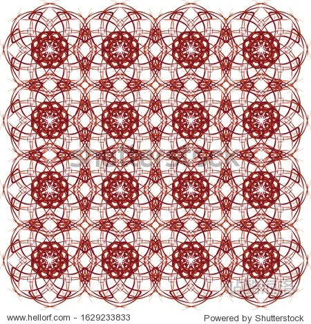Seamless geometric pattern. The lines are red and orange. Creative design for different backgrounds