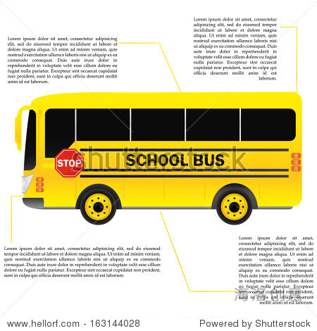 School Bus Isolated With Space For Text