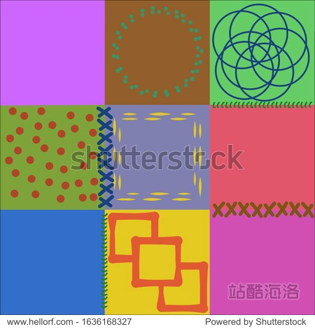 Template patchwork cover notebook. Creative design for printed products