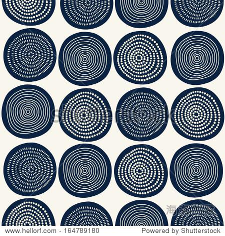 Seamless stylish hand drawn pattern. Vector illustration