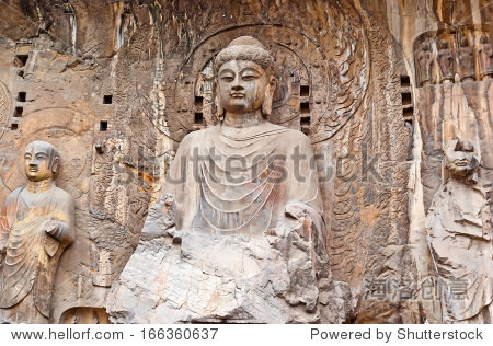 The Big Vairocana of Longmen Buddha Grottoes. Luoyang, China
