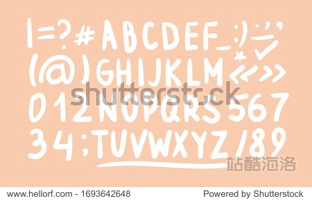 Cute English hand written alphabet  vintage vector illustration. Lowercase and uppercase letters  fine for card  lettering  poster