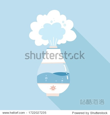 Vector design of humidifier and appliance sign. Web element of electric humidifier and diffuser. Flat vector illustration with shadow