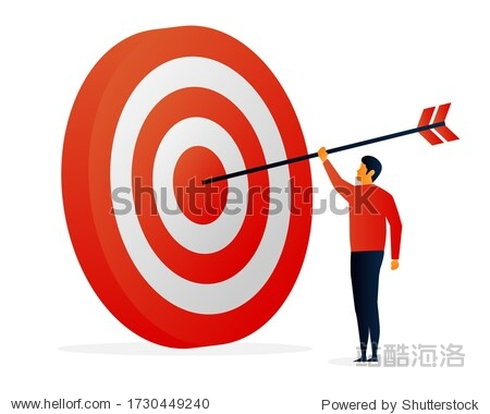 Challenges. Target. Objective. People. Elements Vector illustrayion flat. Trand