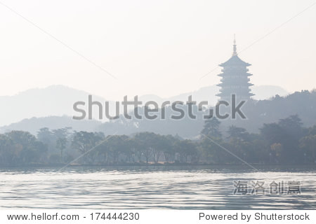 Pagoda(Leifeng tower) in Xihu Lake, Hangzou, China