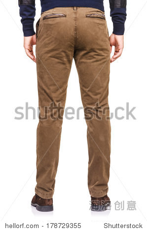 Fashion concept with trousers on white