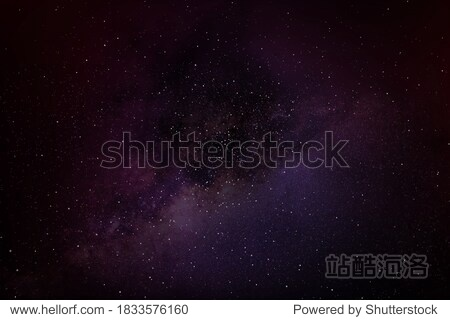 Milky way in night sky background