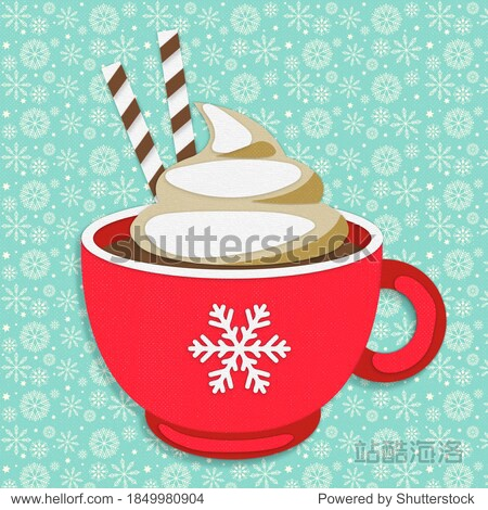 Merry Christmas Cup of Cheer Coffee Hot Chocolate Winter