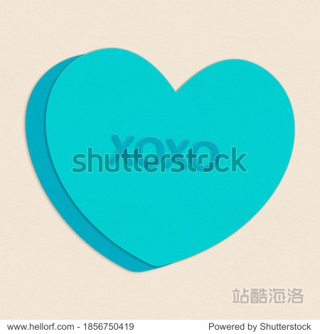 Cut Paper Illustration Hugs Kisses Candy Valentine Heart Message Element Background Texture