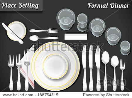 Setting Place Formal Placemat. Place Setting Informal Place Mat. Formal Placement Plate Napkins. Informal Placement Flatware. Vintage Placement Diagram Etiquette. Dinner Etiquette Mat Illustration