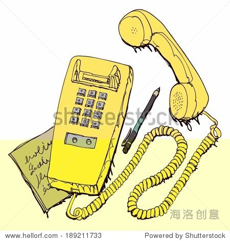 Retro Telephone With Pen And Note
