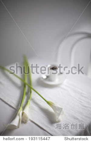 the image of flower and coffee