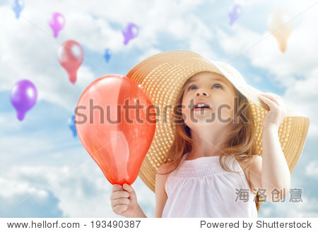 a beautiful child enjoying life
