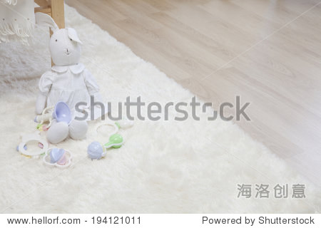 the image of giving birth and baby toys