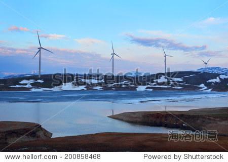 Wind turbines farm.Norway