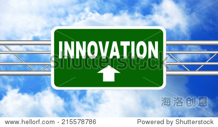 Innovation Road Sign. Business concept