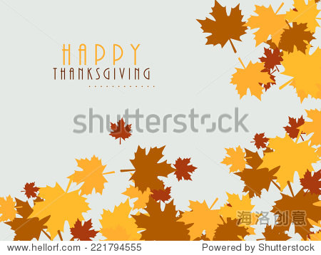 Colorful maples leaves decorated poster  banner or flyer design for Thanksgiving Day celebrations.
