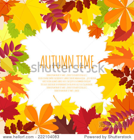 banner with autumn foliage.vector illustration eps10