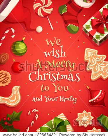 Holiday frame. Christmas card  poster  banner. Vector illustration.