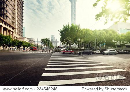 street  in Shanghai Lujiazui,China