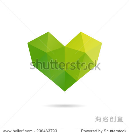Heart shape abstract isolated on a white backgrounds  vector illustration