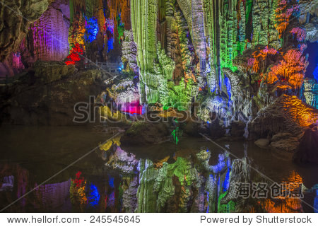 Yangshuo in Guilin, China caves, karst landforms.