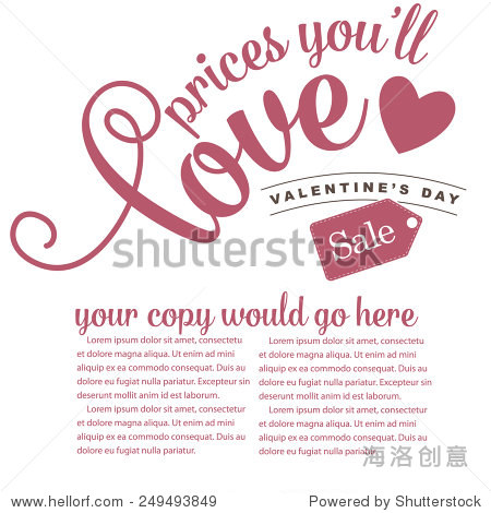 Valentines Day design advertising template background royalty free stock illustration perfect for ad  poster  announcement  signage  postcard  flier