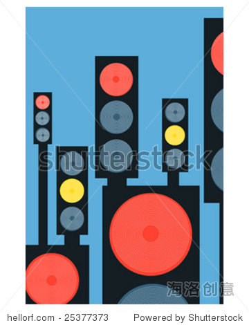 Groovy lights poster
