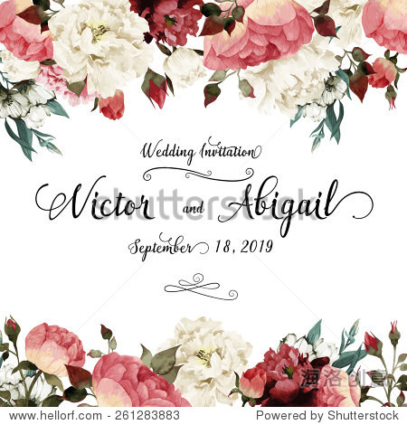 Greeting card with roses  watercolor  can be used as invitation card for wedding  birthday and other holiday and  summer background. Vector illustration.