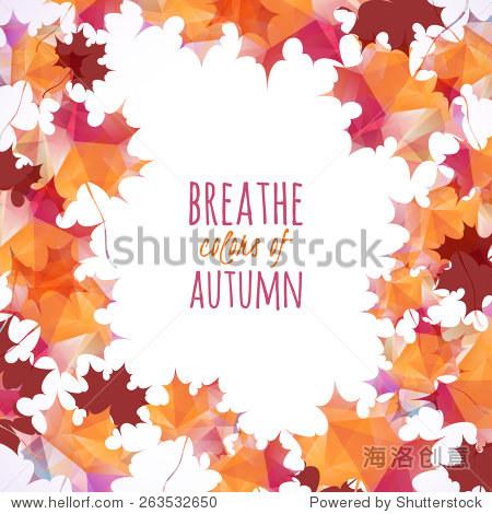 Autumn background. Vector illustration. Eps 10