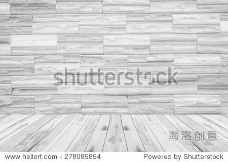 Wooden floor on white background