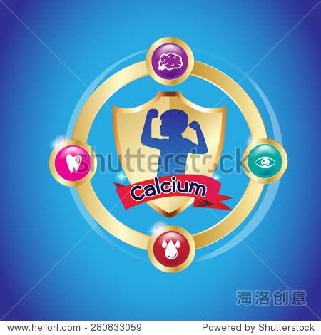 Kids Calcium Omega Vector Vitamin Logo