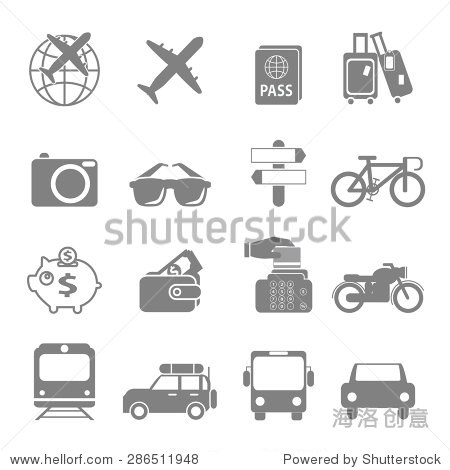Icon symbol vector holiday travel and leisure.