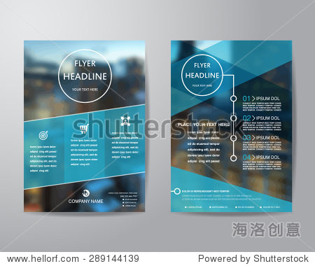 business brochure flyer design layout template in A4 size  with blur background  vector eps10.